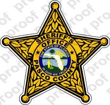 STICKER SHERIFF PASCO COUNTY