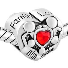 Mom dad Son daughter Family Forever Love bond Charm/Mothers day bracelet charm