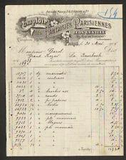 """PARIS (III°) COMPTOIR des FANTAISIES PARISIENNES / Cadeaux """"Leon LEVILLE"""" 1906"""