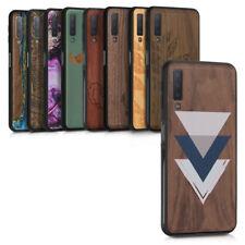 Holz Schutzhülle für Samsung Galaxy A7 2018 Hardcase TPU Bumper Holz Hülle