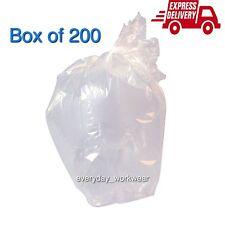 "200 Gauge Strong Clear Rubbish Bin Bags Refuse Sacks Virgin Material 18""x29""x39"""