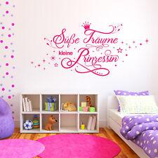 Wandtattoo Süße Träume kleine Prinzessin   Wandsticker Wand Aufkleber Mädchen