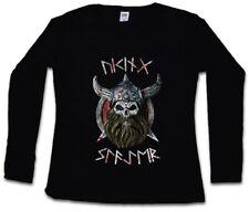 VIKING SLAYER DAMEN LANGARM T-SHIRT Warrior Thor Odin Vikings Rune Odhin Loki
