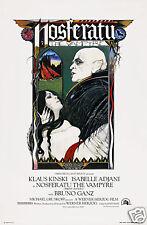 Nosferatu the vampyre Klaus Kinski movie poster print