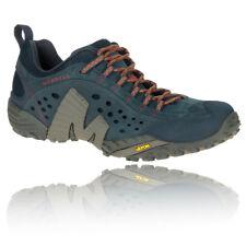 Merrell Intercept Hombres Verde Azul Zapatillas De Trail Running Correr Deporte
