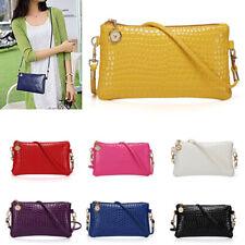 Women Ladies Handbag Shoulder Purse Messenger Crocodile Pattern Crossbody Bag