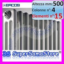 3S CALORIFERO TERMOSIFONE RADIATORE ACCIAIO TUBOLARE 15 ELEMENTI H 500 mm 4 COL
