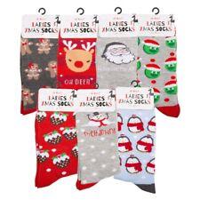 Da Donna Bambine Novità Natale Calze Stocking Filler regalo Natale Cena Divertente