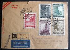 AUSTRIA FDC REGISTERED WIEN 18 II 1948 TO CHICAGO USA