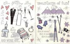 WEDDING or SNOW Sticker Sheet Tree House Designs Choice