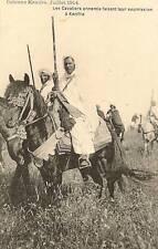 CPA CAVALIERS KHENIFRA JUILLET 1914 SOUMISSION MAROC