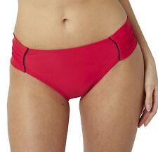 Panache SW0649 Swimwear Veronica Ruched Bikini Pant / Brief Red