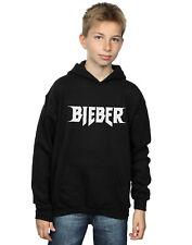 Justin Bieber Bambini e ragazzi Simple Logo Felpa Con Cappuccio