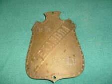 1 Ancienne  Plaque de Machine Outil - ALEXANDRA Patent N° 11-1/2 Déco Loft