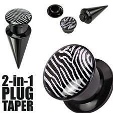Plug/Taper 2-in-1 wechselbar mit Zebra Motive