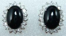 Fashion Ladies Earrings Jade & Tiger Eye Stone Stud Earring Girls Jewelry