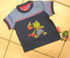 T-Shirt von Sigikid mit kurzem Arm, blau mit Frosch. NEU!!!