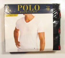 Polo Ralph Lauren Men's Black Classic Fit V-Neck Moisture Wicking T-Shirt 3 Pack