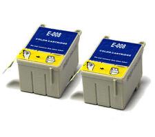 2x colore COMPATIBILE (NON OEM) per sostituire le cartucce di inchiostro t008
