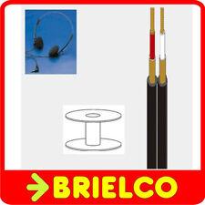 CABLE APANTALLADO PARALELO FINO BLINDADO CARRETE 250M JACK Y AURICULARES BD4390