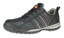 sécurité C3380 tennis noires à lacets Sécurité Travail du Cuir Coquille baskets