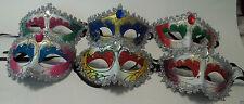 Venetian Oval Gem Mardi Gras Masquerade Mask assortment or choice of 6 colors