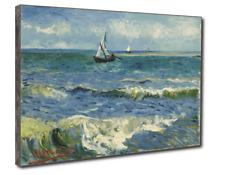 ⛵️Van Gogh Vista sul Mare Quadro Pannello Stampa su Tavola MDF Effetto Dipinto