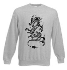 Tribal Chinese Dragon I Sweatshirt Pullover China Symbol Chinesischer Drache