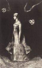 "Odilon Redon : ""Hantise (Obsession)"" (1894) — Giclee Fine Art Print"