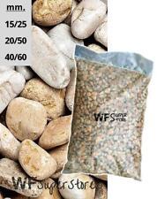 Ciottoli di marmo Giallo Mori in sacchi da 25 kg - sassi neri pietre giardino