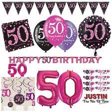 50th rose célébration Fête D'anniversaire Fournitures Ballons Vaisselle & Décorations