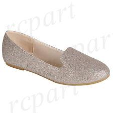 New women's shoes ballerina ballet flats glitter wedding casual rose gold