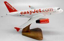 A-319 Easyjet Airbus A319 Airplane Desktop Kiln Dry Wood Model Regular New