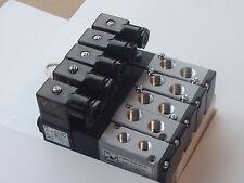 Solenoid Valve Manifold bank Pneumax 8884.Valves 1/8 & 1/4 Bsp 5/2 Sol Spring
