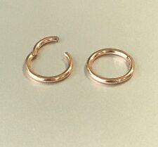 20G 18G 16G 14G Surgical ROSE GOLD HINGED Segment Nose Ring Septum Clicker Daith