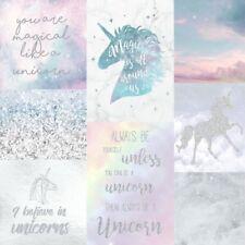 Unicorn Sparkle Paillettes Papier Peint Rose Bleu Argent Chambre à coucher 698300