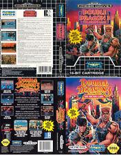 DOUBLE Dragon 3 Sega Mega Drive Genesis PAL NTSC RICAMBIO box-art CASE inserisci