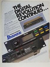 retro magazine advert 1983 IBANEZ hd1000 / dm1000