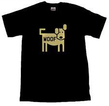 Dog WOOF Cool T-SHIRT ALL SIZES # Black