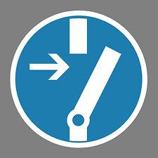 Vor Arbeiten freischalten  Aufkleber Sticker Schild Hinweis Verbotsschild