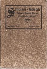 1920 (DC) CALVARY BAPTIST CHURCH  & SUNDAY SCHOOL Souvenir Sketch booklet