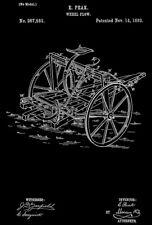 1882 - Wheel Plow - E. Peak - Patent Art Poster