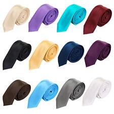 "Premium Classic Solid Color 2"" Skinny Necktie Neck Tie - Diff Colors Avail"