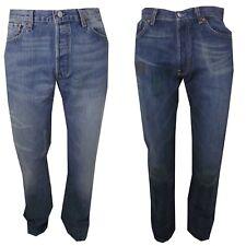 Jeans Levis 501 w30 w31 Pantaloni Levi's Uomo Regular Stright Fit Strappati Blu