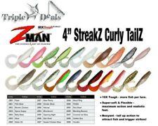 "5 Pack of Zman 4"" Streakz Curly Tailz Soft Plastic Lures - Z man Soft Plastics"