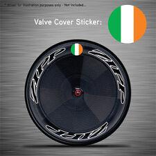 VCS033 - 6x Ireland Flag Disc Wheel Valve Covers/Patches - Zipp Hed Corima FFWD