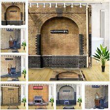 Famous Platform 9 3/4 London Brick Wall Bathroom Fabric Shower Curtain &12 Hooks