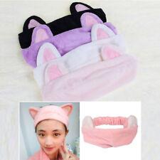 Women Girls Cute Cat Ears Headband Hairband Makeup Wash Face Clean Spa Hair Band