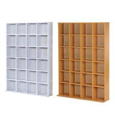 HOMCOM Mobile Libreria Porta CD a Muro 24 Scompartimenti Regolabile in Altezza