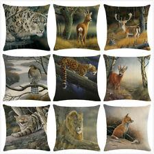 Cute Fox Cat Cushion Cover Nordic Animals Deer Elk Throw Decorative Pillows Case